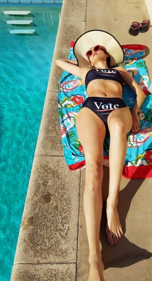 Blanca Blanco Wearing VOTE bikini 15