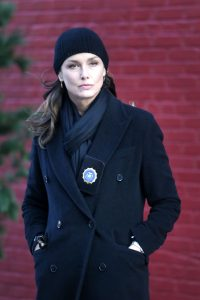 Bridget Moynahan Filming 'Blue Bloods in New York 12