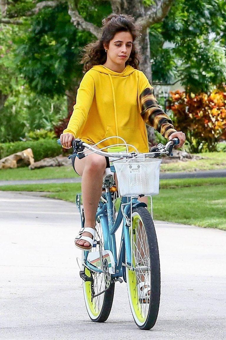 Camila Cabello Bike ride with her boyfriend Shawn Mendes in Miami 15