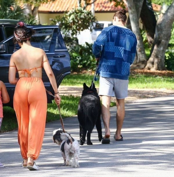 Camila Cabello Seen while she out for a walk with her dogs in Miami 14