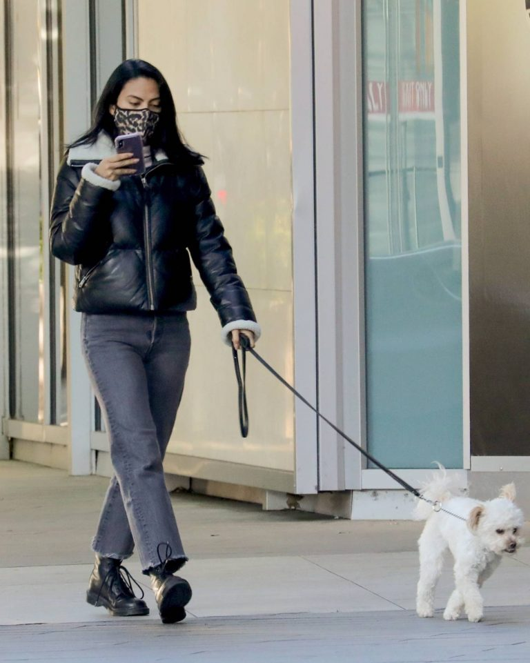 Camila Mendes Out for a walk with Truffle in Vancouver 02