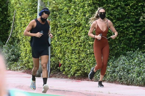 Candice Swanepoel Jogging candids in Miami 15