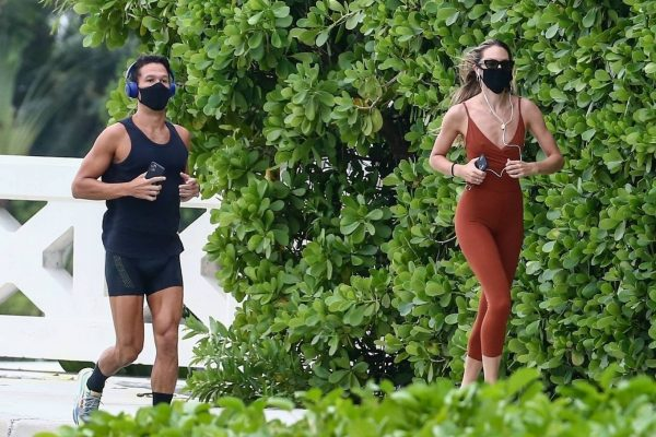 Candice Swanepoel Jogging candids in Miami 16