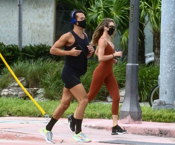 Candice Swanepoel Jogging candids in Miami 18