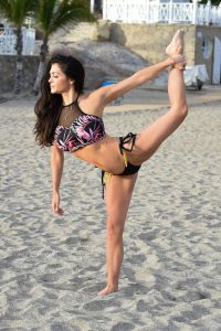 Casey Batchelor Fitness app photoshoot Yoga Blitz in Tenerife 07