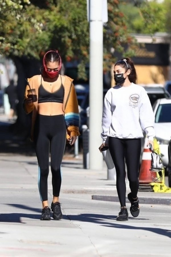 Chantel Jeffries Seen after workout with a friend at DogPound in Los Angeles 06