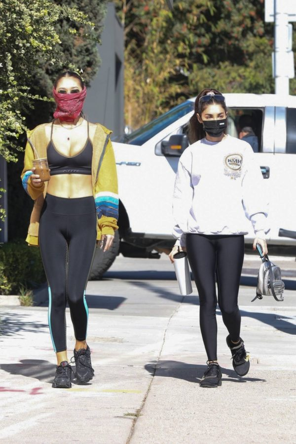 Chantel Jeffries Seen after workout with a friend at DogPound in Los Angeles 07