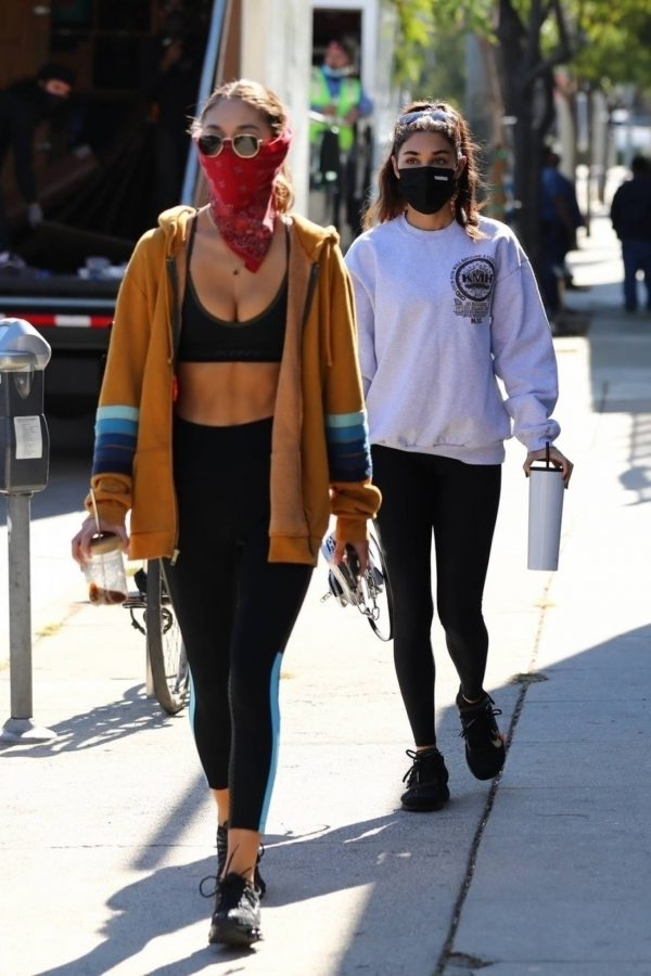 Chantel Jeffries Seen after workout with a friend at DogPound in Los Angeles 09