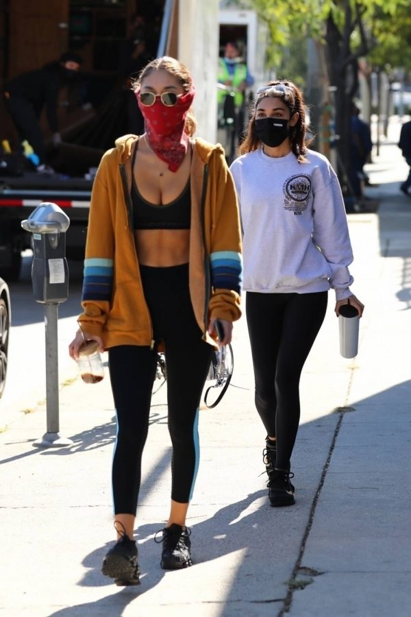 Chantel Jeffries Seen after workout with a friend at DogPound in Los Angeles 12