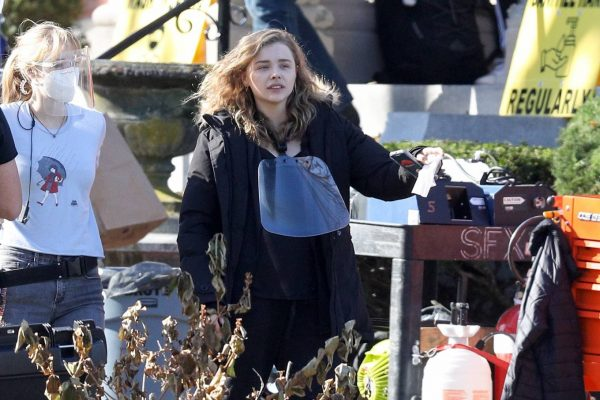 Chloe Grace Moretz Filming Sci Fi film Mother Android in Boston 01