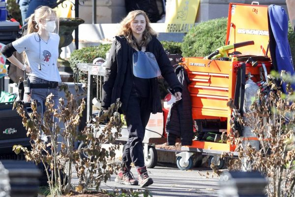 Chloe Grace Moretz Filming Sci Fi film Mother Android in Boston 02