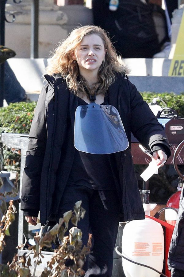 Chloe Grace Moretz Filming Sci Fi film Mother Android in Boston 03
