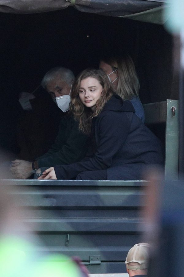 Chloe Grace Moretz Filming Sci Fi film Mother Android in Boston 04