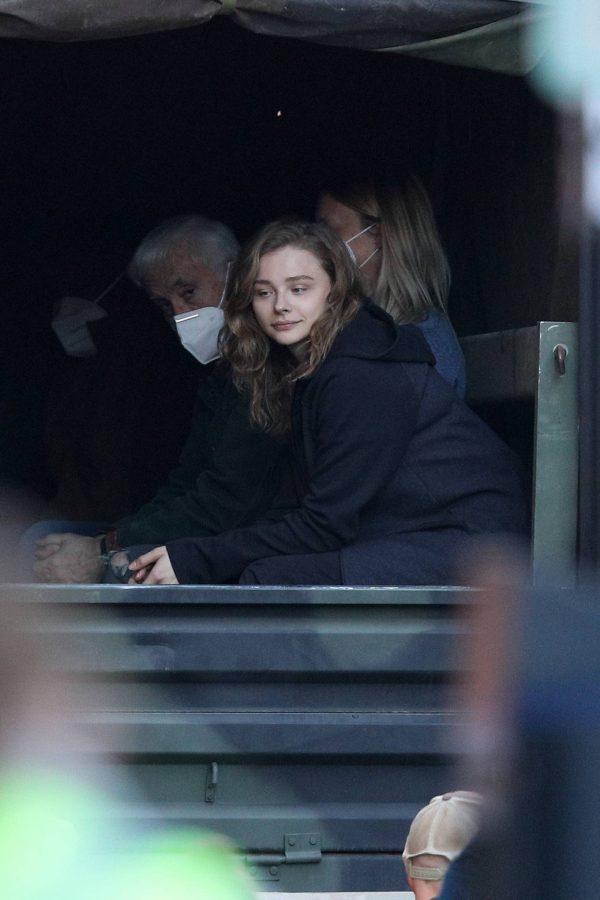 Chloe Grace Moretz Filming Sci Fi film Mother Android in Boston 05