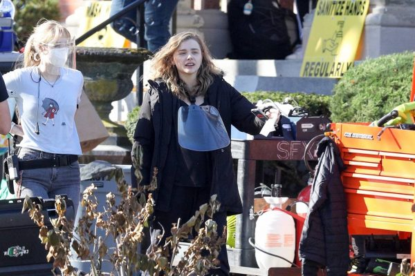 Chloe Grace Moretz Filming Sci Fi film Mother Android in Boston 08