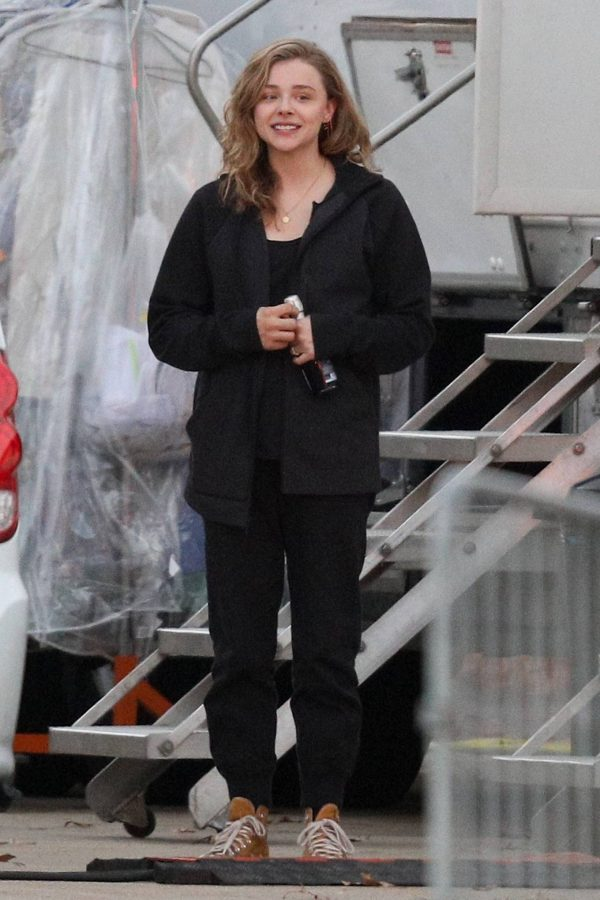 Chloe Grace Moretz Filming Sci Fi film Mother Android in Boston 10