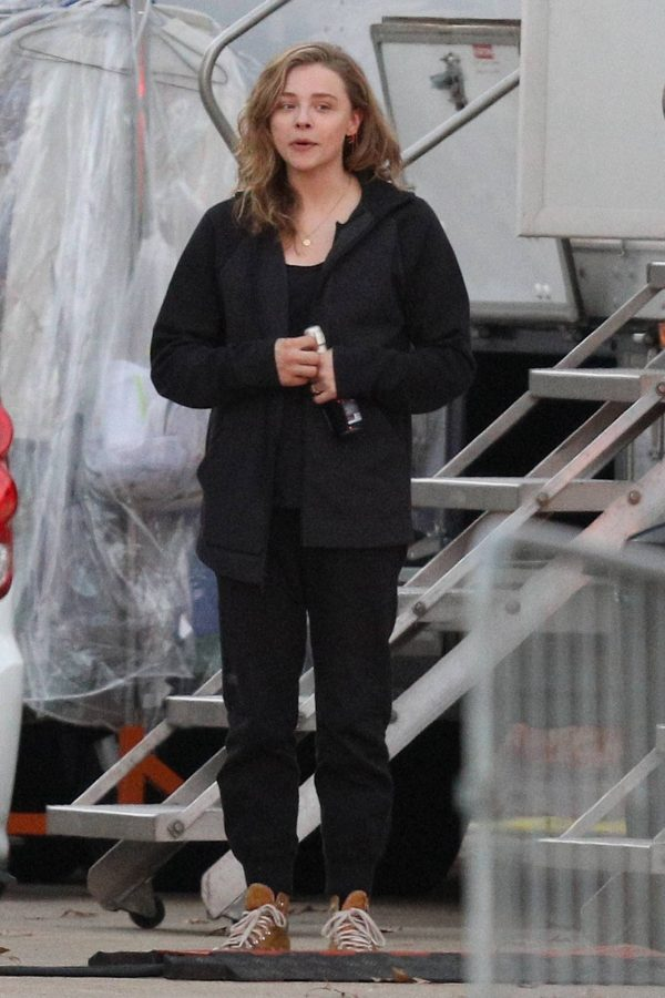 Chloe Grace Moretz Filming Sci Fi film Mother Android in Boston 13