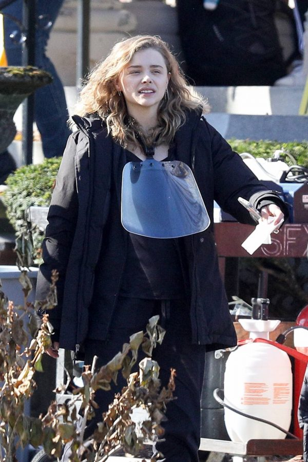 Chloe Grace Moretz Filming Sci Fi film Mother Android in Boston 14