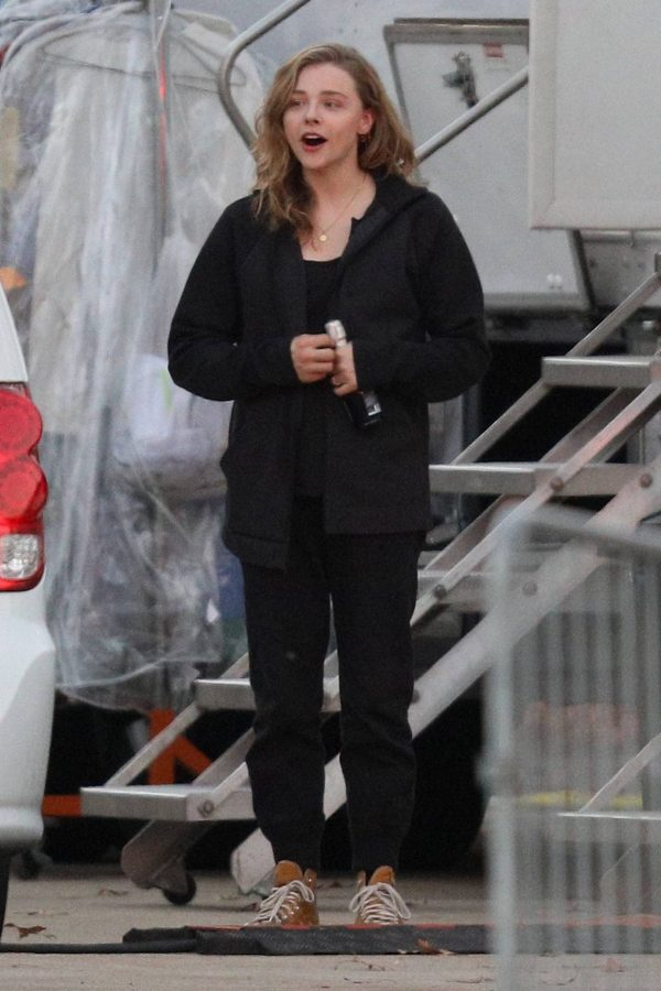 Chloe Grace Moretz Filming Sci Fi film Mother Android in Boston 15