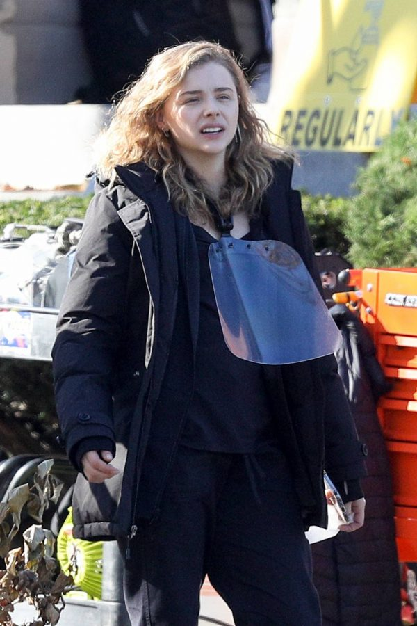 Chloe Grace Moretz Filming Sci Fi film Mother Android in Boston 16