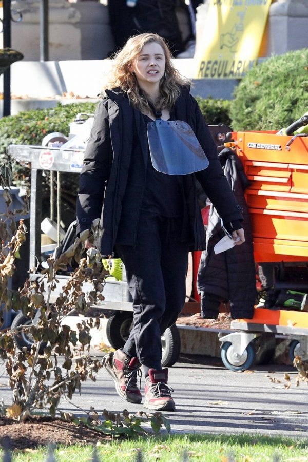Chloe Grace Moretz Filming Sci Fi film Mother Android in Boston 17
