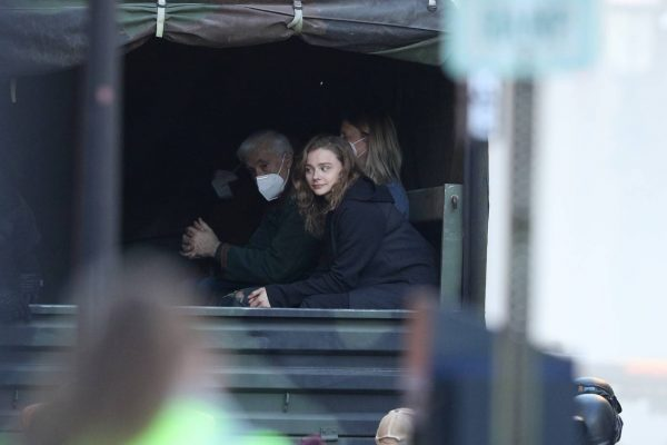 Chloe Grace Moretz Filming Sci Fi film Mother Android in Boston 19