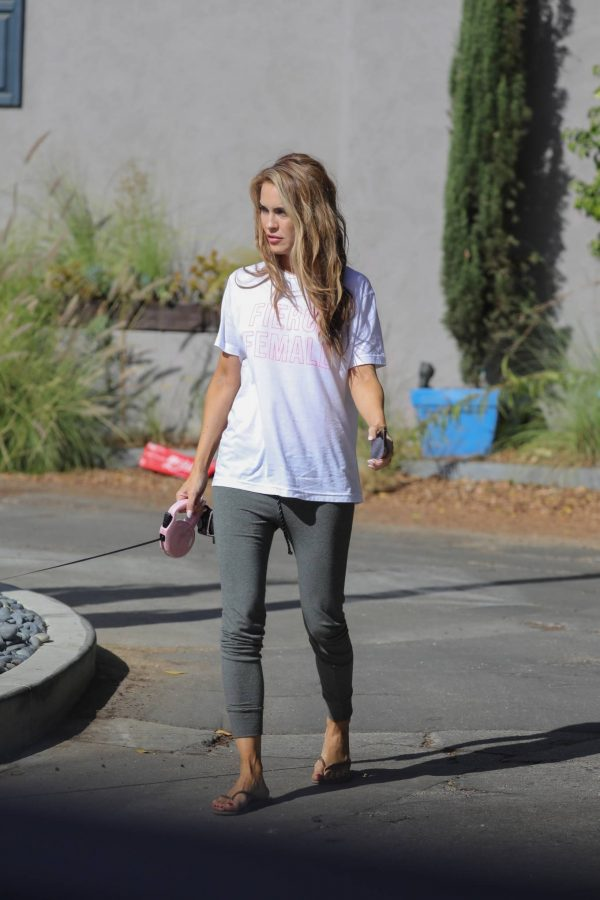 Chrishell Stause Look relaxed while walking her dog in Los Angeles 04
