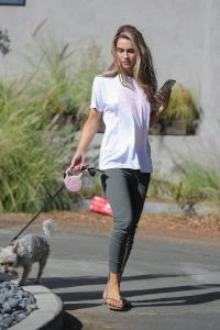 Chrishell Stause Seen walking her dog in Los Angeles 05