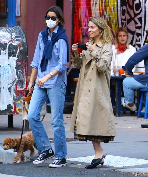 Dianna Agron Spotted with a friend in NYC 07