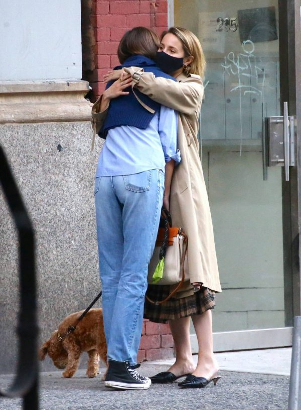 Dianna Agron Spotted with a friend in NYC 09