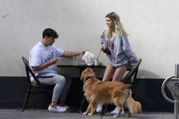 Dixie Damelio seen out for a lunch date with Noah Beck in Los Angeles 19