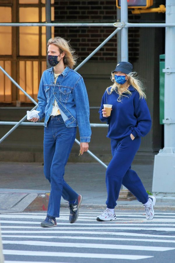 Elsa Hosk Seen while out for a morning coffee in Soho 02