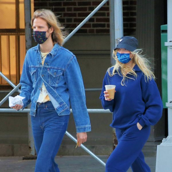Elsa Hosk Seen while out for a morning coffee in Soho 04