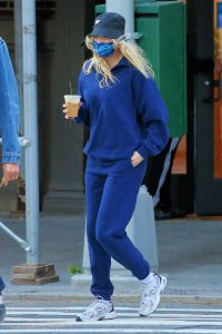 Elsa Hosk Seen while out for a morning coffee in Soho 11