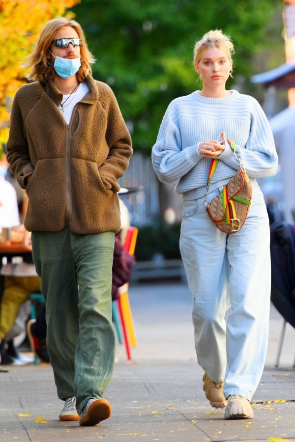 Elsa Hosk with her husband seen after having lunch at the Smile in New York 07