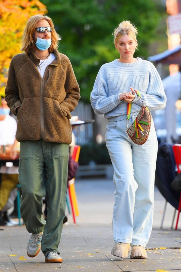 Elsa Hosk with her husband seen after having lunch at the Smile in New York 09