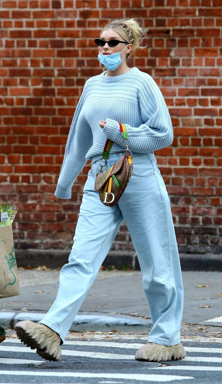 Elsa Hosk with her husband seen after having lunch at the Smile in New York 13