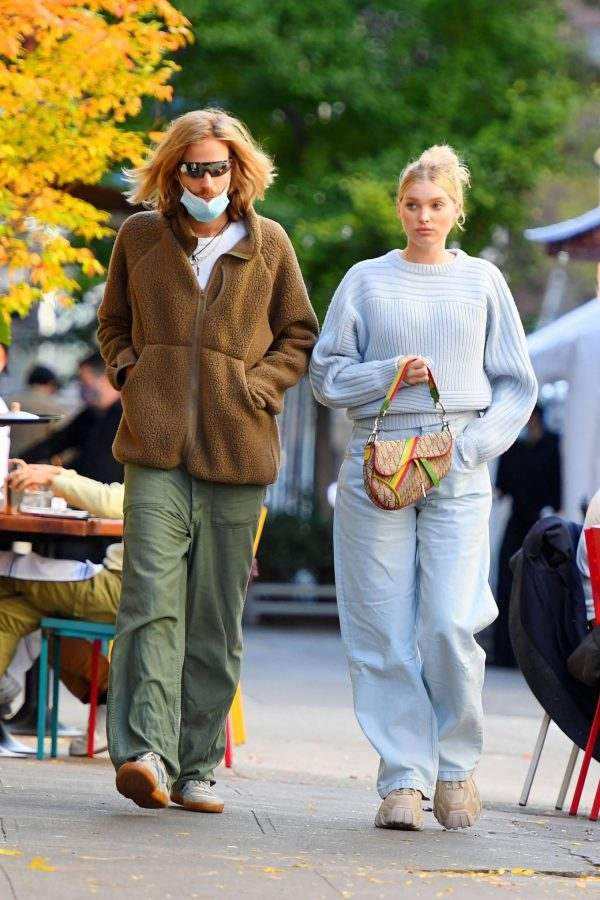 Elsa Hosk with her husband seen after having lunch at the Smile in New York 17