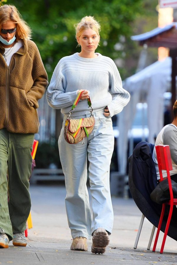 Elsa Hosk with her husband seen after having lunch at the Smile in New York 24