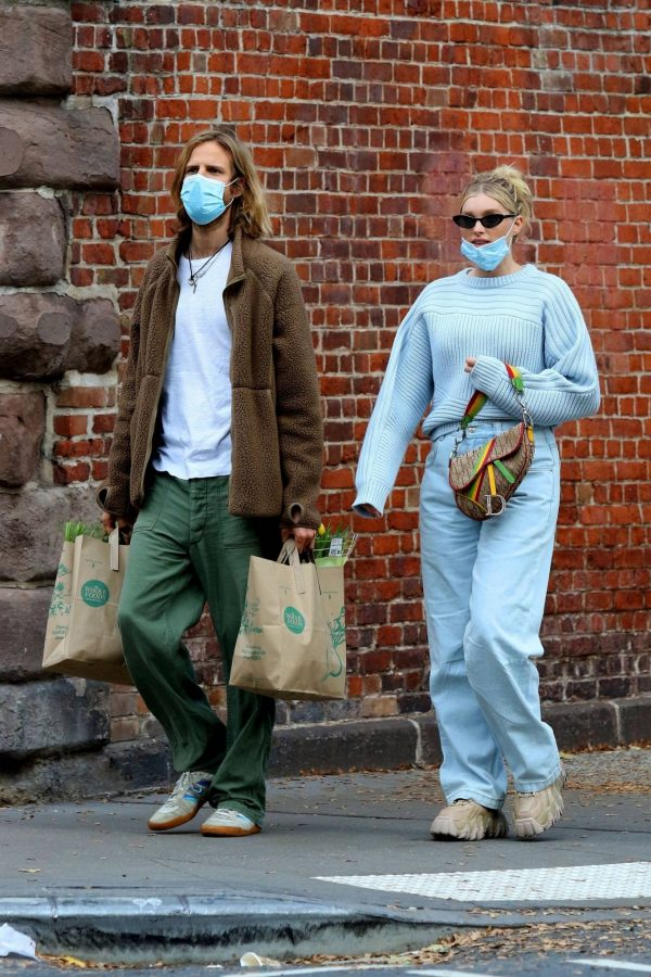 Elsa Hosk with her husband seen after having lunch at the Smile in New York 25