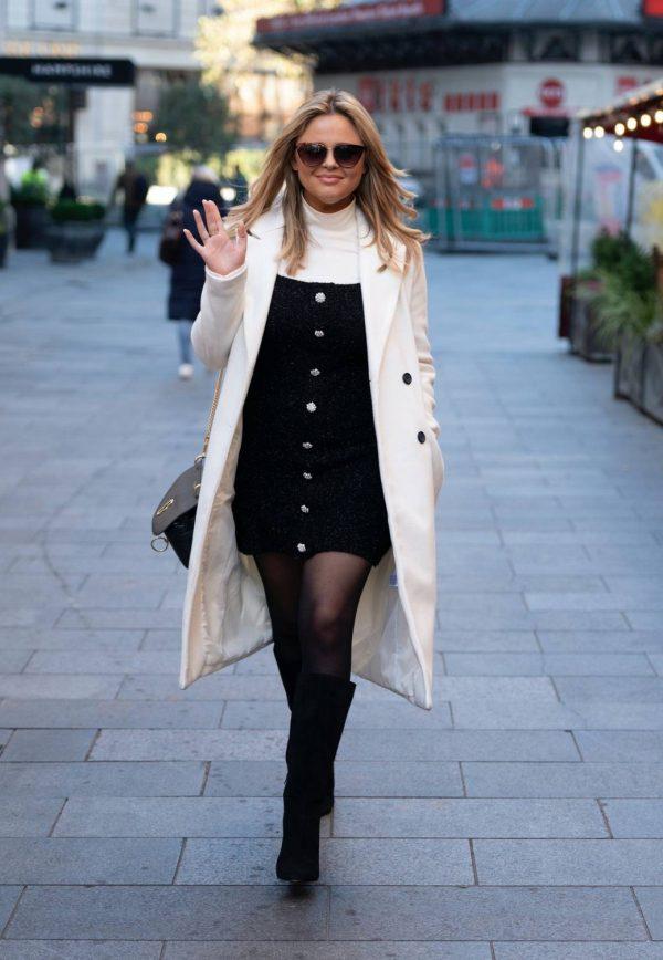 Emily Atack Seen arriving at Global Radio in London 01