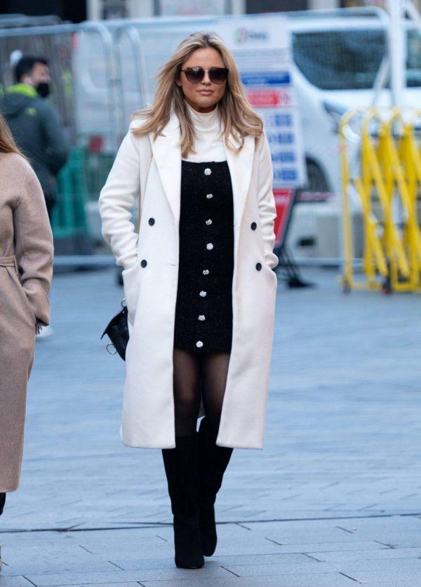 Emily Atack Seen arriving at Global Radio in London 03