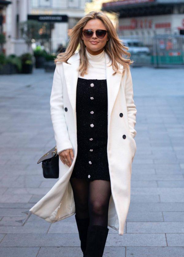 Emily Atack Seen arriving at Global Radio in London 05