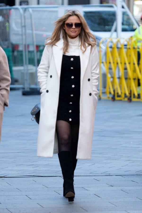 Emily Atack Seen arriving at Global Radio in London 06