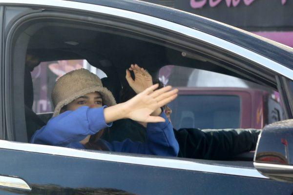 Emily Ratajkowski celebrates Joe Bidens win with her husband in Los Angeles 07