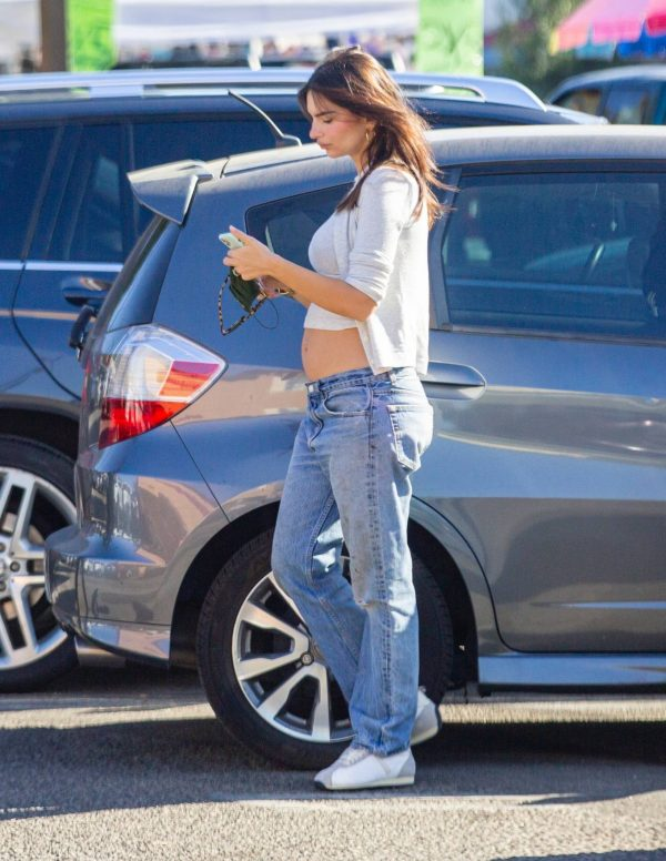 Emily Ratajkowski shopping candids with a friend in Los Angeles 11