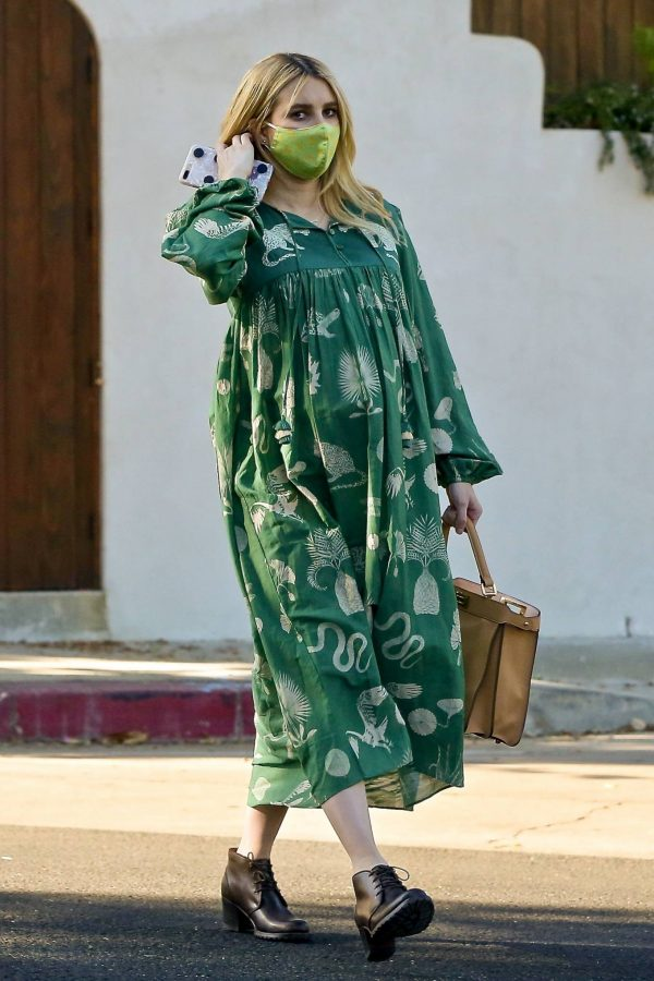 Emma Roberts Seen while leaves her home in Los Feliz 01