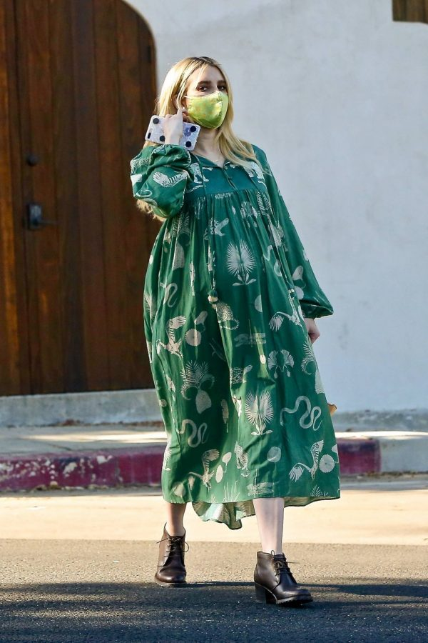 Emma Roberts Seen while leaves her home in Los Feliz 02
