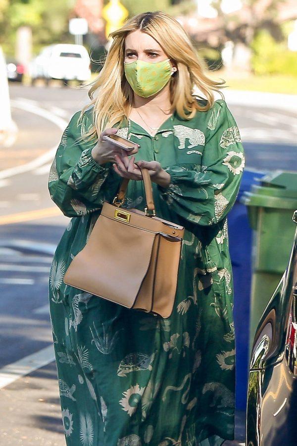 Emma Roberts Seen while leaves her home in Los Feliz 03