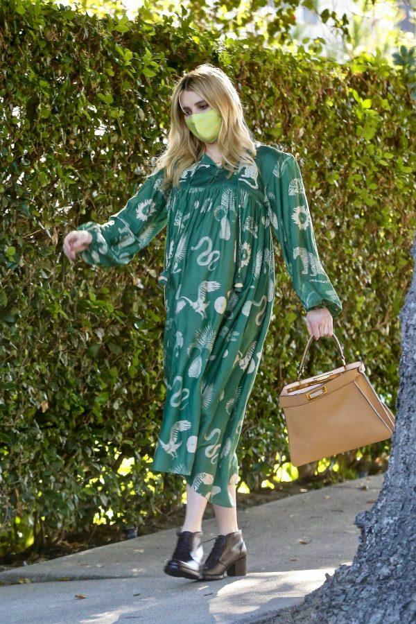 Emma Roberts Seen while leaves her home in Los Feliz 06